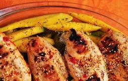 De borst van de kip met mango Royalty-vrije Stock Foto's