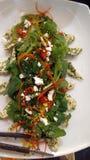 De borst van Turkije en tuin groene salade Stock Fotografie