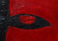 De borstel rode van het Grungeoog textuur als achtergrond royalty-vrije stock foto
