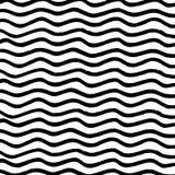 De borstel schilderde minimalistische zwart-witte golvende achtergrond Royalty-vrije Stock Afbeelding