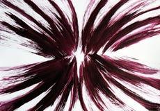 De borstel trekt flexibele lijnen die uit het centrum van het beeld komen Spreid mijn vleugels uit royalty-vrije stock afbeelding