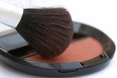 De borstel van de make-up Stock Foto