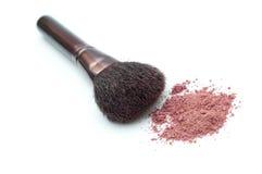 De borstel van de make-up royalty-vrije stock afbeeldingen