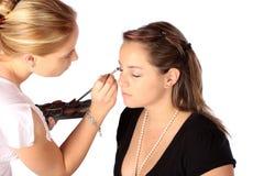 De borstel van de make-up Stock Afbeeldingen