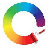 De borstel van de regenboogrol Royalty-vrije Stock Afbeeldingen