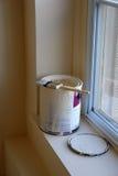 De Borstel van de verf en kan Royalty-vrije Stock Foto