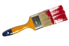 De borstel van de verf met kleur het schilderen stock fotografie