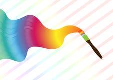 De Borstel van de Verf van de regenboog royalty-vrije illustratie