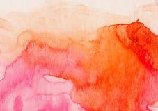 De borstel van de waterverf Stock Foto's