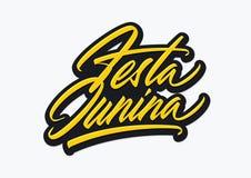De borstel van Festajunina het vector van letters voorzien Royalty-vrije Stock Afbeelding