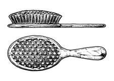 De borstel van het haar Zijaanzicht en vooraanzicht vector illustratie