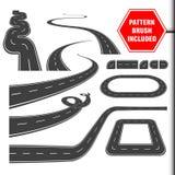 De borstel van het wegpatroon en klaar voor gebruikselementen Royalty-vrije Stock Foto's