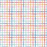 De borstel vectorpatroon van controle naadloos grunge Kleurrijke plaid op witte achtergrond r stock illustratie