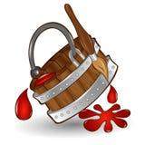 De borstelemmer van de pictogramverf Royalty-vrije Stock Afbeeldingen