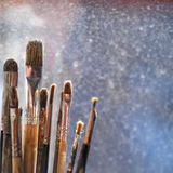 De borstels van de kunstenaarsverf Royalty-vrije Stock Afbeeldingen