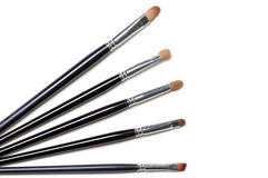 De borstels van de make-up Stock Foto's