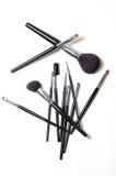 De borstels van de make-up Stock Afbeelding