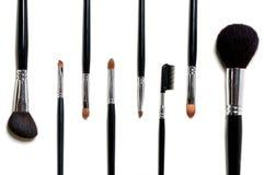 De borstels van de make-up Stock Foto