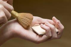 De borstels van de make-up. royalty-vrije stock fotografie
