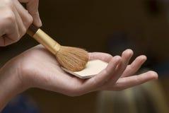 De borstels van de make-up. stock foto