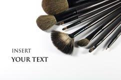De Borstels van de make-up. Stock Afbeeldingen