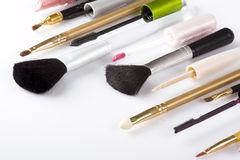 De borstels van de make-up royalty-vrije stock afbeelding