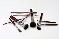 De borstels van de make-up Royalty-vrije Stock Afbeeldingen