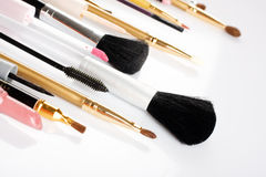 De borstels van de make-up Royalty-vrije Stock Foto