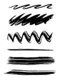 De borstels van de verf Royalty-vrije Illustratie
