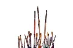 De Borstels van de Verf van de kunstenaar stock afbeelding