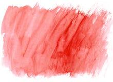 De borstelslagen van de grenadine rode waterverf als achtergrond vector illustratie