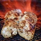 De Borsten van de kip op de Grill Royalty-vrije Stock Foto's
