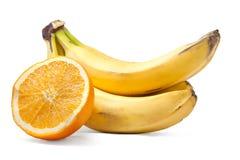 De bos en de sinaasappel van de banaan Stock Foto's