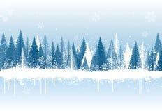 De bosachtergrond van de winter royalty-vrije illustratie