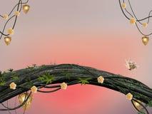 De bosachtergrond van feeën Royalty-vrije Stock Foto's