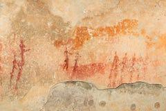 De Bosjesmannen schommelen het schilderen Royalty-vrije Stock Afbeelding