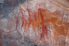 De Bosjesmannen schommelen het schilderen - Zuid-Afrika stock foto