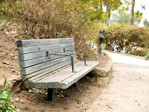 De botanische gang van de tuinbank in Santa Barbara California stock foto's