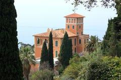 De botanische tuin van Hanbury van de villa, Italië stock afbeelding