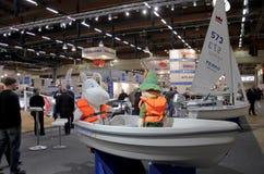 De boten bij Boot tonen Stock Afbeelding