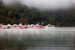 De boten bij Ita Thao-pijler Royalty-vrije Stock Afbeeldingen