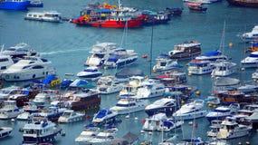 De boten van Aberdeen, Hongkong Stock Fotografie