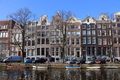 De Boten van Amsterdam Stock Foto