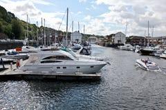De boten van Cardiff stock afbeeldingen