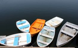 De boten van de baai stock afbeelding