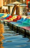De boten van de peddel Royalty-vrije Stock Foto