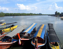 De boten van de reis in Thailand Stock Afbeelding