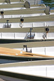 De Boten van de rij op de Rivier Dee Stock Foto