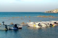 De boten van de visser Stock Foto's