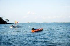 De boten van de visser Royalty-vrije Stock Afbeeldingen